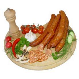 Geräucherte Bratwurst - mit Paprika und Knoblauch