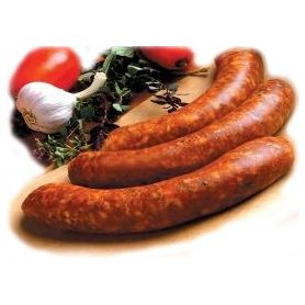 Frische Eingefrorene Bratwurst mit Paprika und Knoblauch