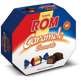 Rom Autentic - Caramele glazurate - Toffees with rum center and cocoa glaze