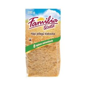 Familia - Teszta - Suppennudeln kleine Quadrate