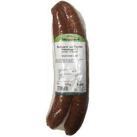 Smoked sausage with paprika and garlic