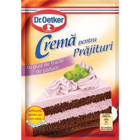 Dr. Oetker - Crememischung für Kuchen mit Waldbeerengeschmack
