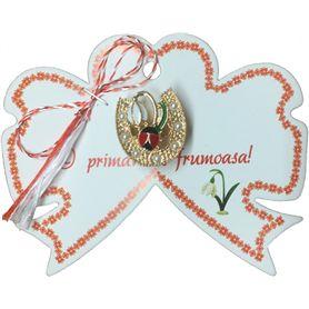 Martisor - Ghiocel - Buburuza - Potcoava cu perle