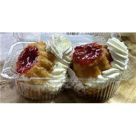 Savarina - deserturi cu frișcă - 2 bucăți