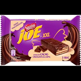 Joe XXL - Napolitane crocante cu crema de cacao invelite in ciocolata cu lapte
