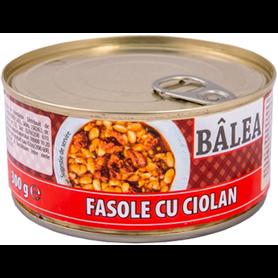 Bâlea - Geräucherte Schweinehaxe mit Bohnen