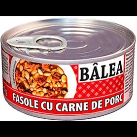 Bâlea - Geräuchertes Schweinefleisch mit Bohnen