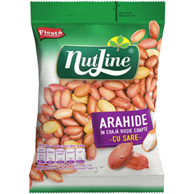 Nut Line - Dry roasted and salted peanuts in skin